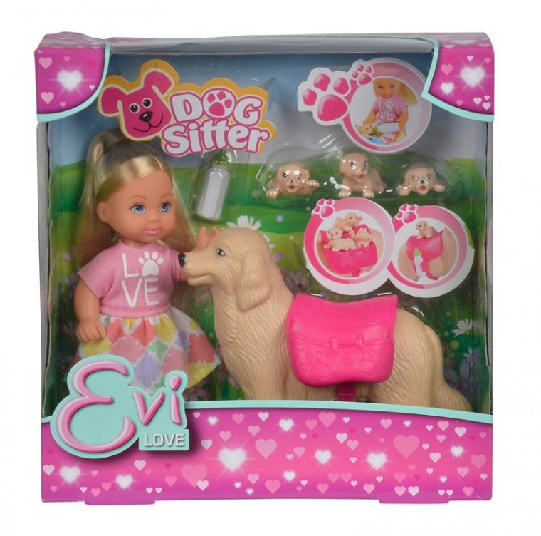 Кукла Еви с собачкой и щенками, 12 см.Куклы Еви<br>Кукла Еви с собачкой и щенками, 12 см.<br>