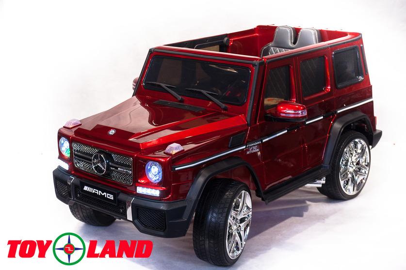 Электромобиль Mercedes Benz G65, вишневого цветаЭлектромобили, детские машины на аккумуляторе<br>Электромобиль Mercedes Benz G65, вишневого цвета<br>