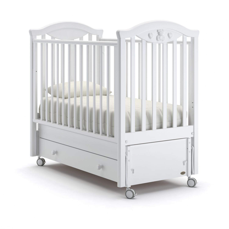Купить Детская кровать Nuovita Lusso swing продольный, bianco/белый