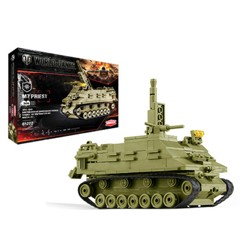 Конструктор из серии World Of Tanks - M7 Priest, 307 деталейКонструкторы других производителей<br>Конструктор из серии World Of Tanks - M7 Priest, 307 деталей<br>