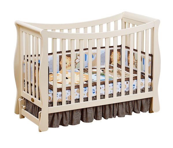 Кроватка для новорожденных Fresco, цвет IvoryДетские кровати и мягкая мебель<br>Кроватка для новорожденных Fresco, цвет Ivory<br>