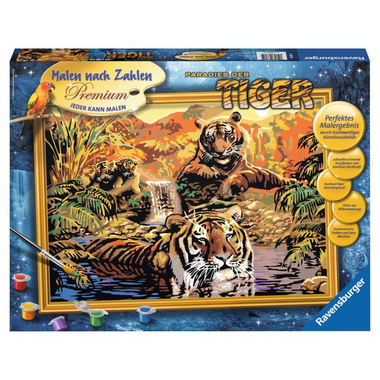 Раскрашивание по номерам «Тигры»Раскраски по номерам Schipper<br>Раскрашивание по номерам «Тигры»<br>