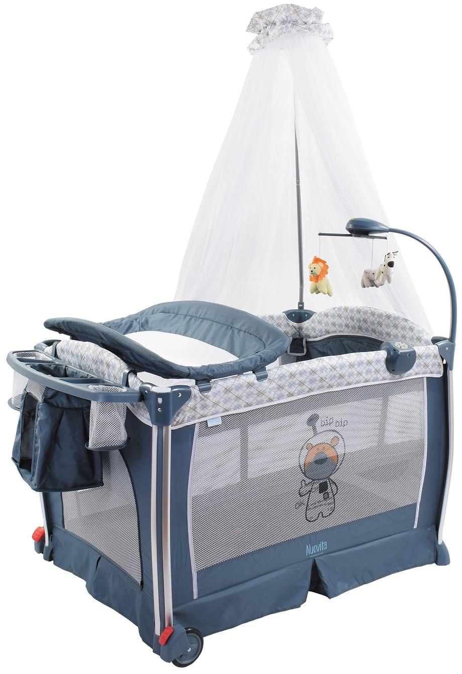 Детская кровать-манеж Nuovita Fortezza, цвет - Grigio scuro / Темно-серыйМанежи<br>Детская кровать-манеж Nuovita Fortezza, цвет - Grigio scuro / Темно-серый<br>