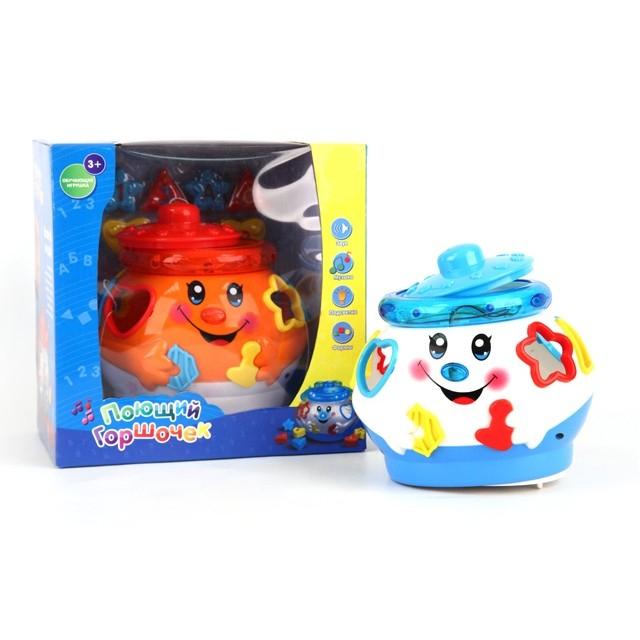 Обучающая игрушка  Музыкальный горшочек, с логической игрой, свет, звук - Интерактив для малышей, артикул: 147349