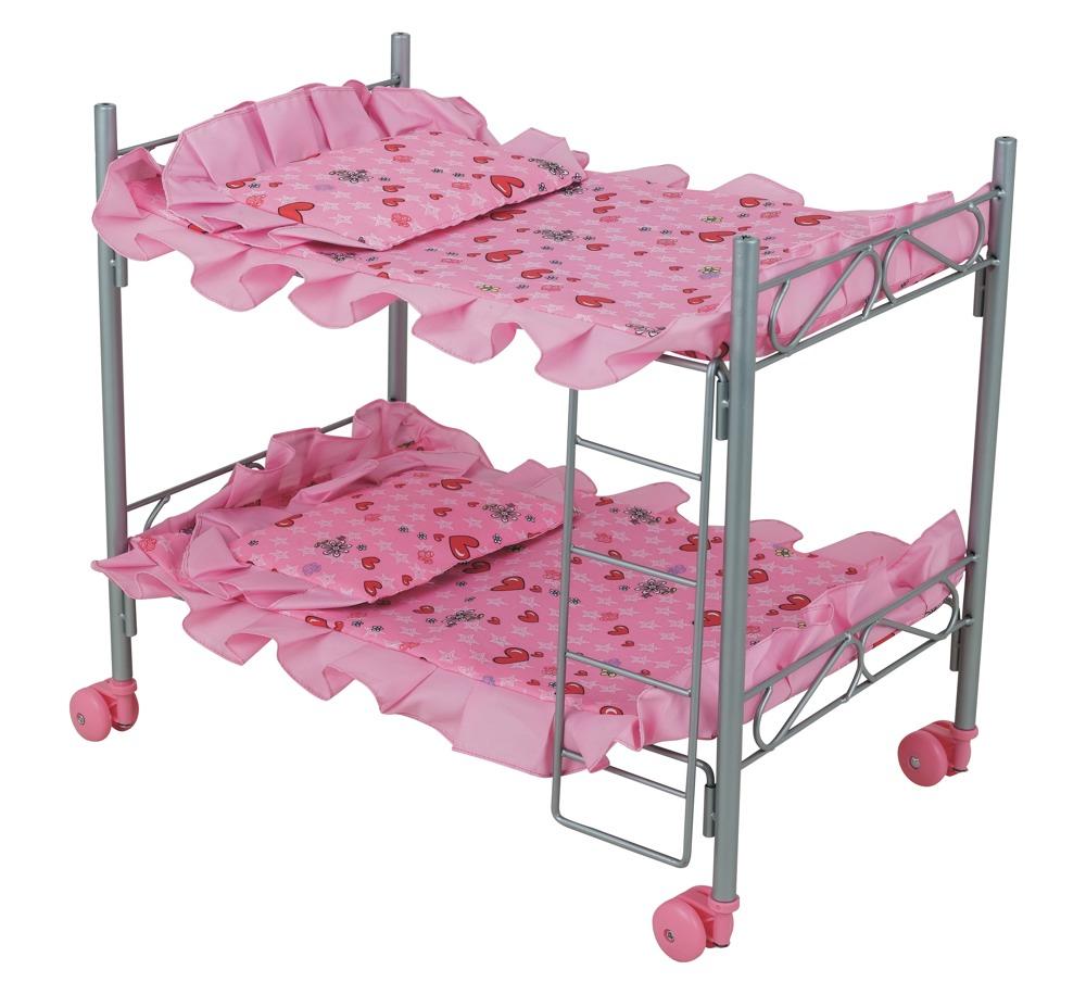 Двухъярусная кроватка для куклы - Детские кроватки для кукол, артикул: 7176