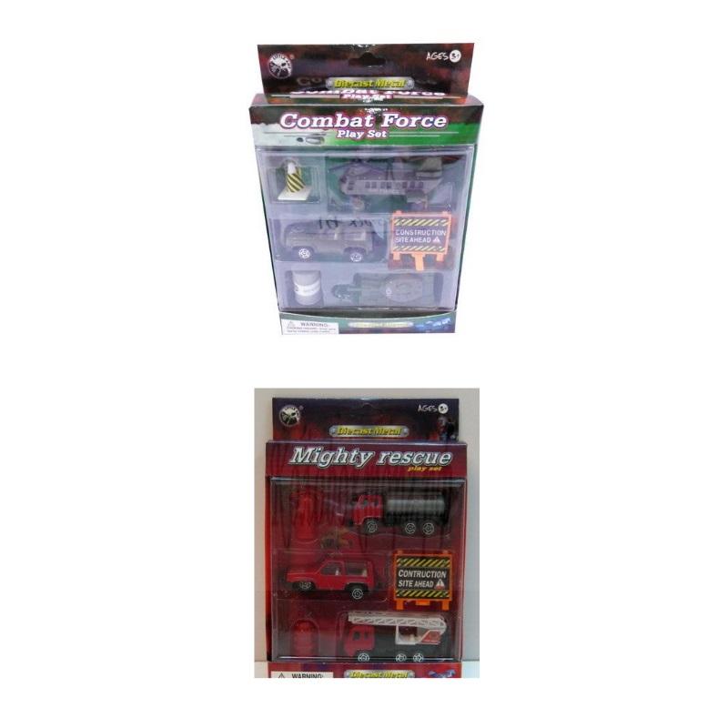 Набор из серии Пожарный или Военный, 6 предметовПожарная техника, машины<br>Набор из серии Пожарный или Военный, 6 предметов<br>