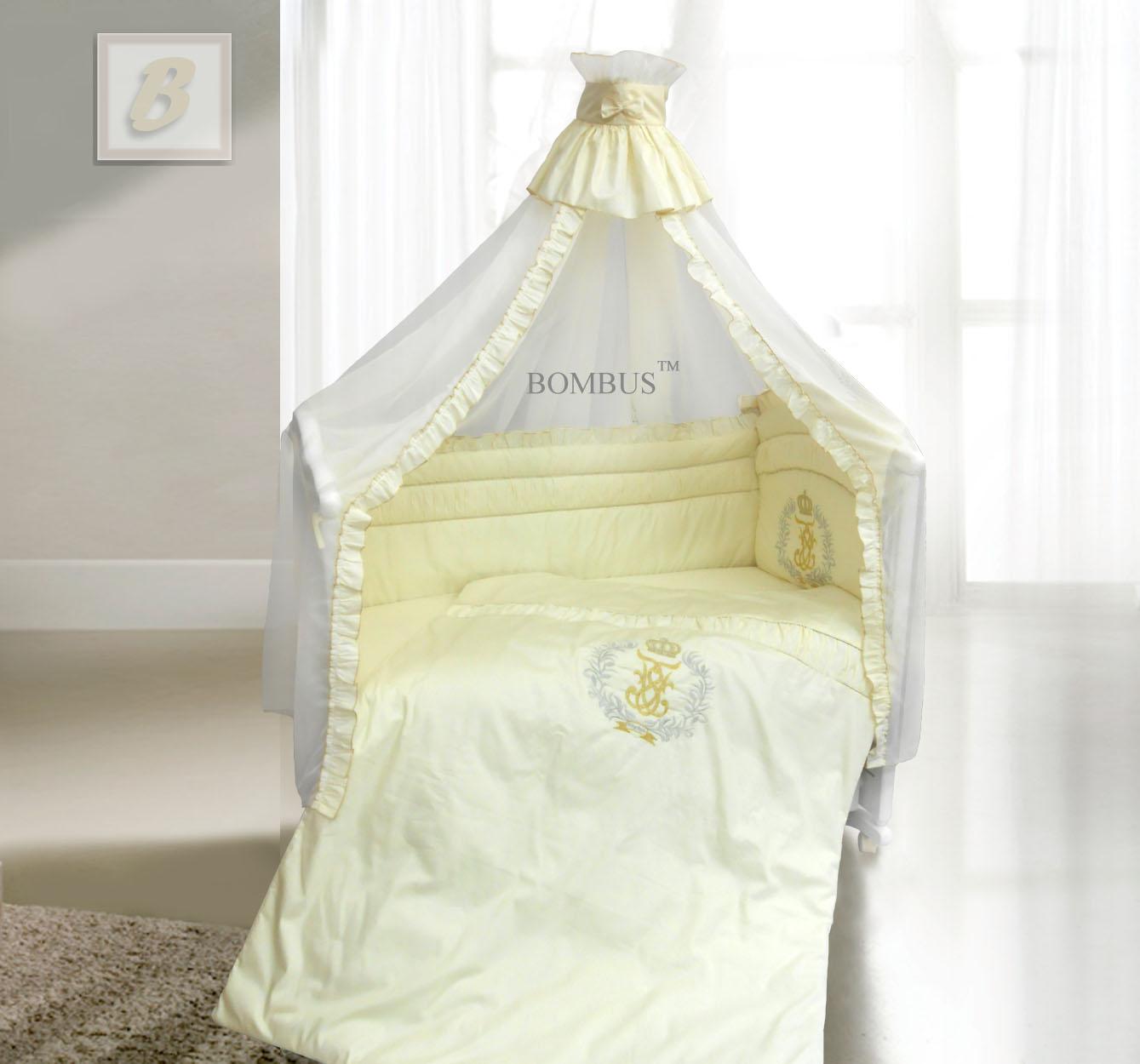 Комплект в кроватку - Королевский, 7 предметовДетское постельное белье<br>Комплект в кроватку - Королевский, 7 предметов<br>