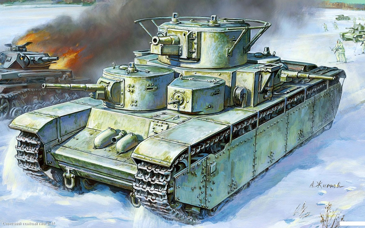 Модель сборная - Советский тяжёлый танк Т-35Модели танков для склеивания<br>Модель сборная - Советский тяжёлый танк Т-35<br>