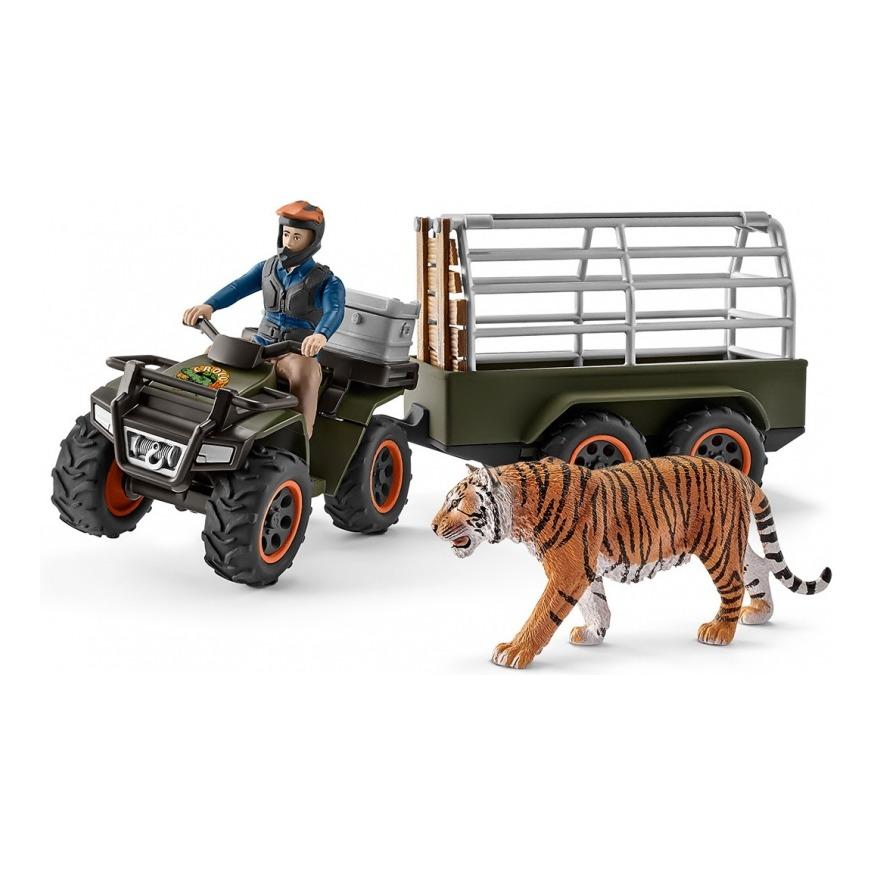 Купить Квадроцикл с прицепом для перевозки животных, Schleich