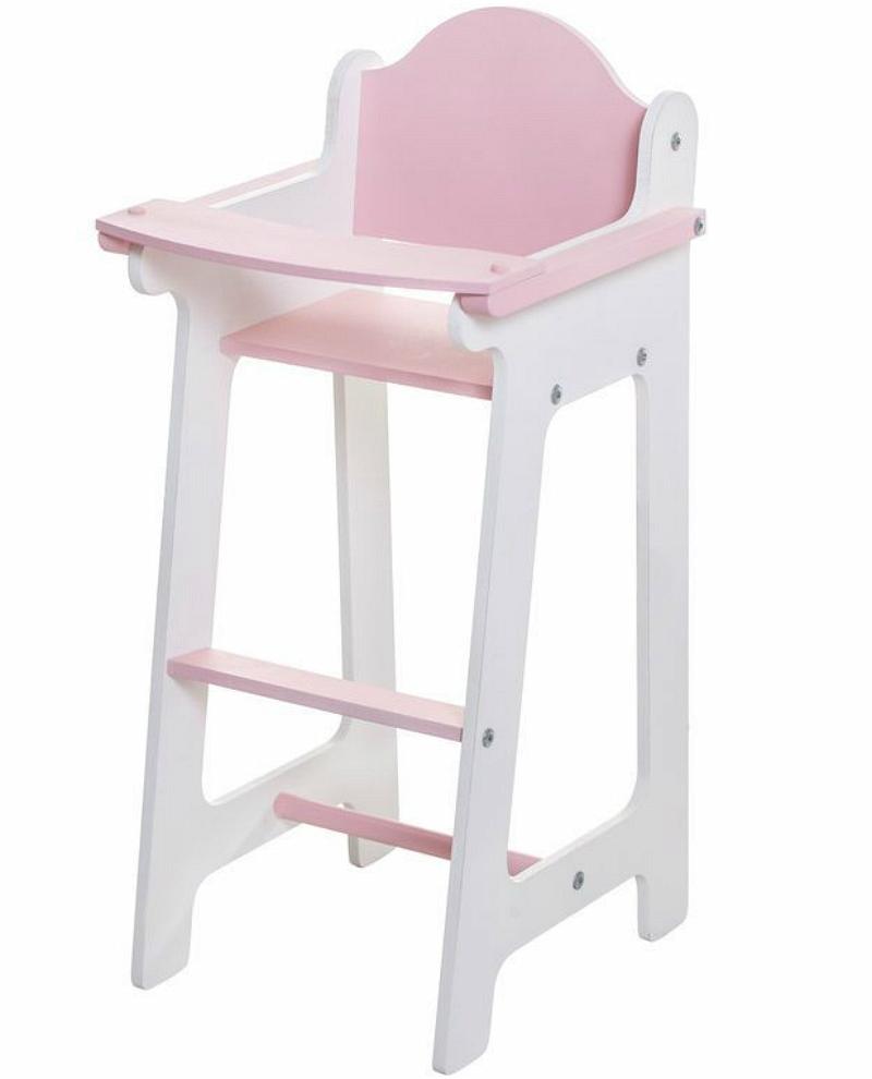 Кукольный стул для кормления, цвет розовыйДетские кроватки для кукол<br>Кукольный стул для кормления, цвет розовый<br>