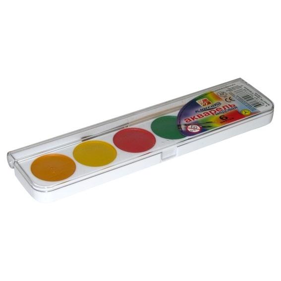 Акварель – Классика, 6 цветов, с кистьюКраски<br>Акварель – Классика, 6 цветов, с кистью<br>