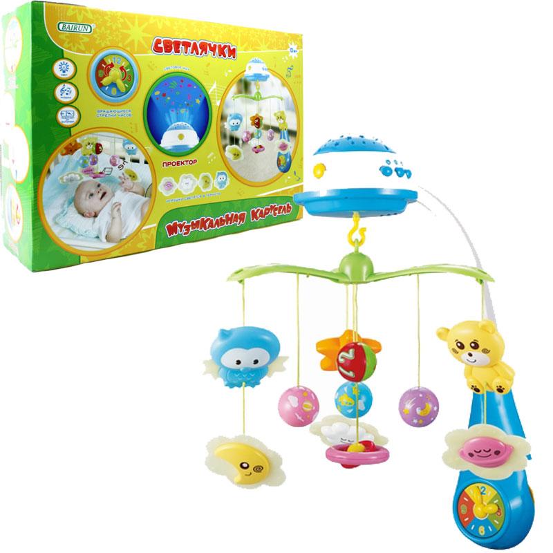 Музыкальная карусель - Светлячки, свет и звукМобили и музыкальные карусели на кроватку, игрушки для сна<br>Музыкальная карусель - Светлячки, свет и звук<br>
