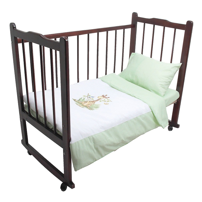 Постельное белье Аленка, 3 предмета, цвет – зеленыйДетское постельное белье<br>Постельное белье Аленка, 3 предмета, цвет – зеленый<br>