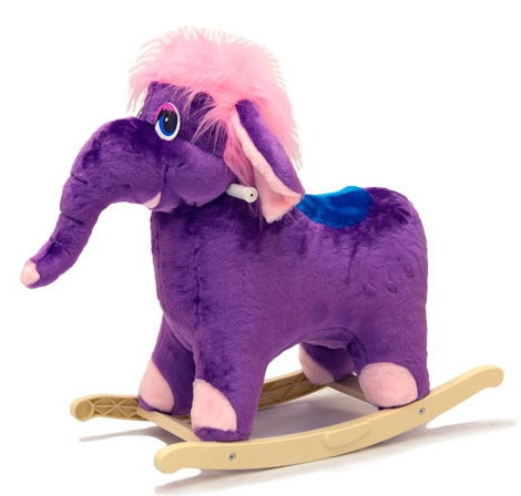 Меховая качалка. Слон - Детские кресла-качалки, артикул: 158021