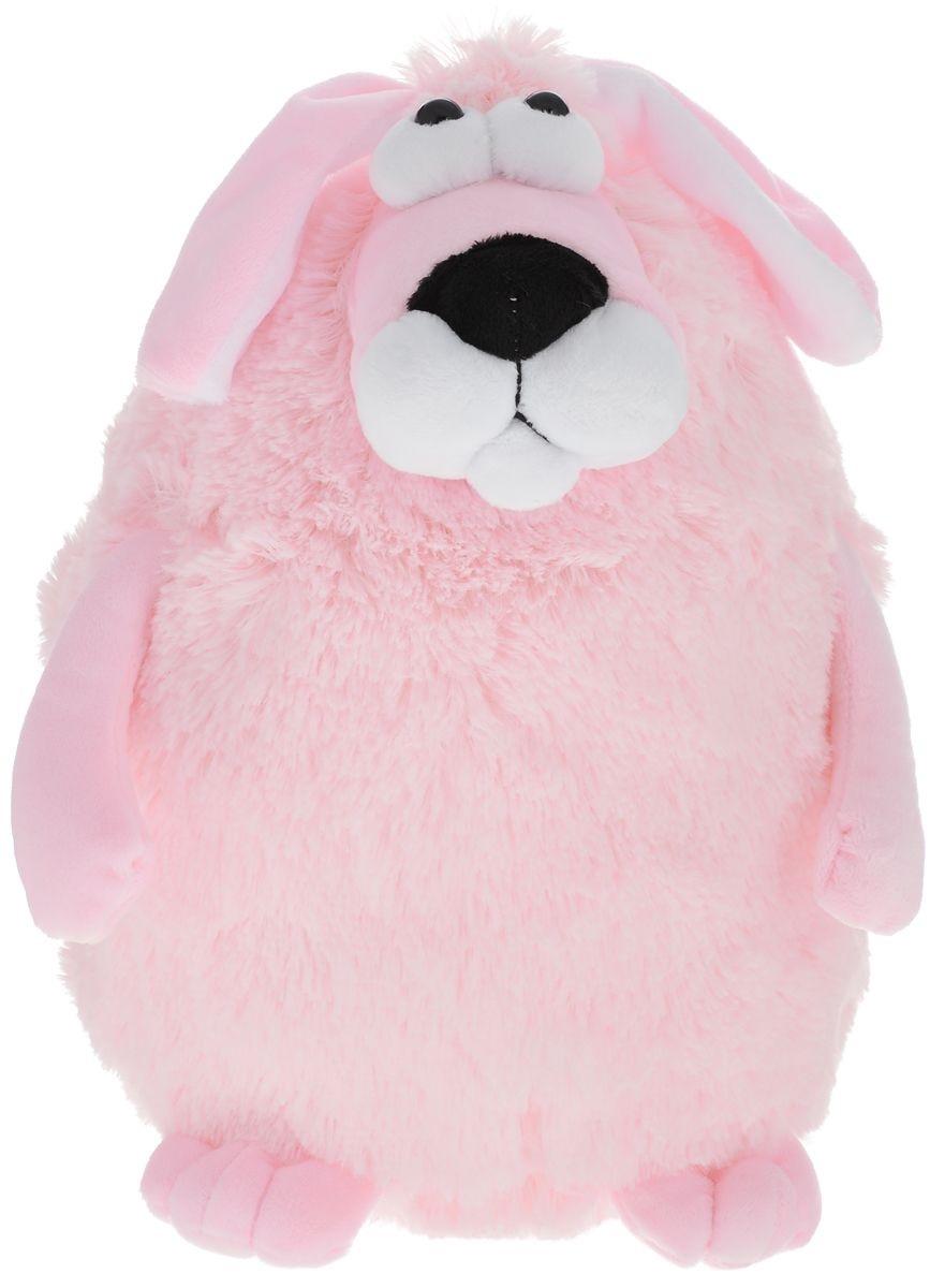 Мягкая игрушка Собачка - кругляш розовый, 27 см.Собаки<br>Мягкая игрушка Собачка - кругляш розовый, 27 см.<br>