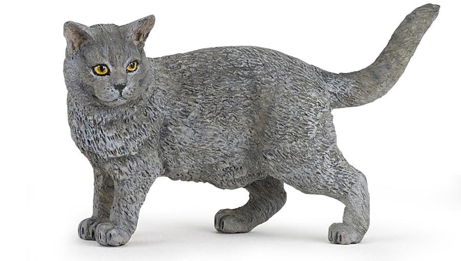 Фигурка – кошка ШартрезНа ферме (Farm life)<br>Фигурка – кошка Шартрез<br>