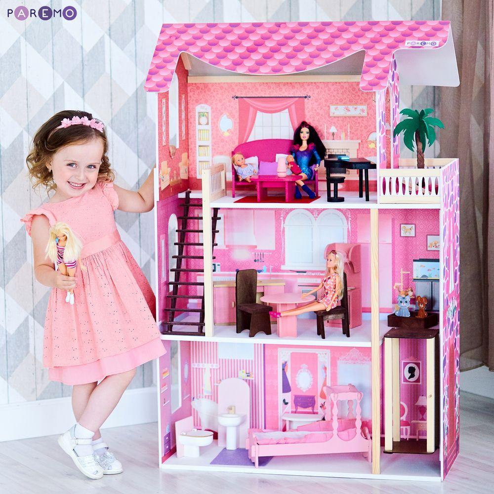 Купить Кукольный домик - Монте-Роза, с мебелью, Paremo