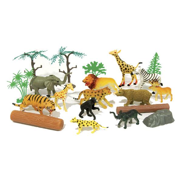 Игровой набор - Рюкзачок В мире животных, 20 предметовЖизнь динозавров (Prehistoric)<br>Игровой набор - Рюкзачок В мире животных, 20 предметов<br>