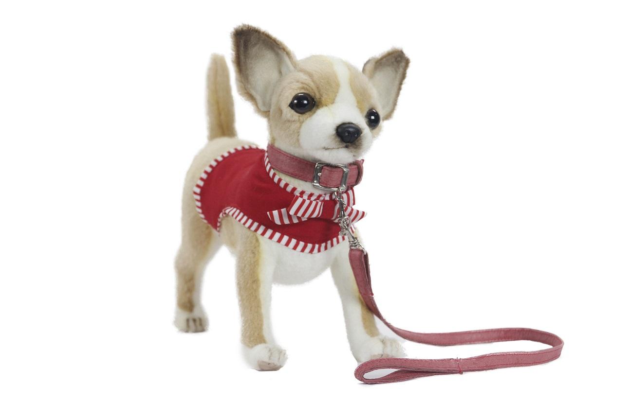 Мягкая игрушка – Чихуахуа в красном, 27 см.Собаки<br>Мягкая игрушка – Чихуахуа в красном, 27 см.<br>