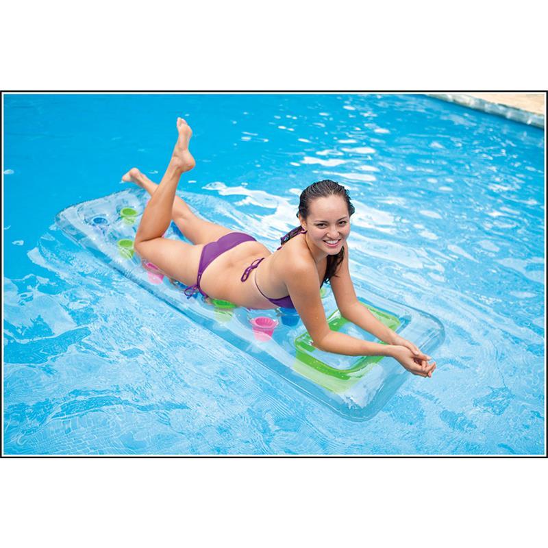 Пляжный надувной матрас с подстаканниками - Детские надувные игрушки и бассейны, артикул: 97001