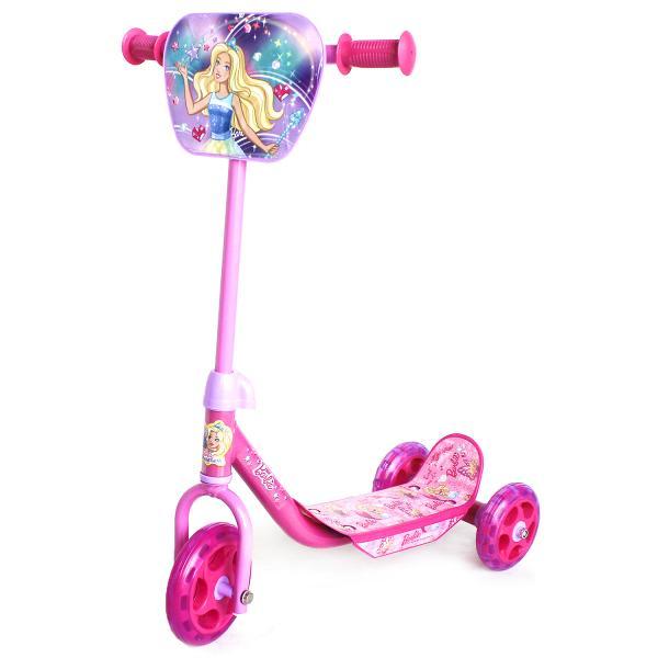 Трехколесный самокат – Barbie, колеса 14,5 и 12 см, розовый