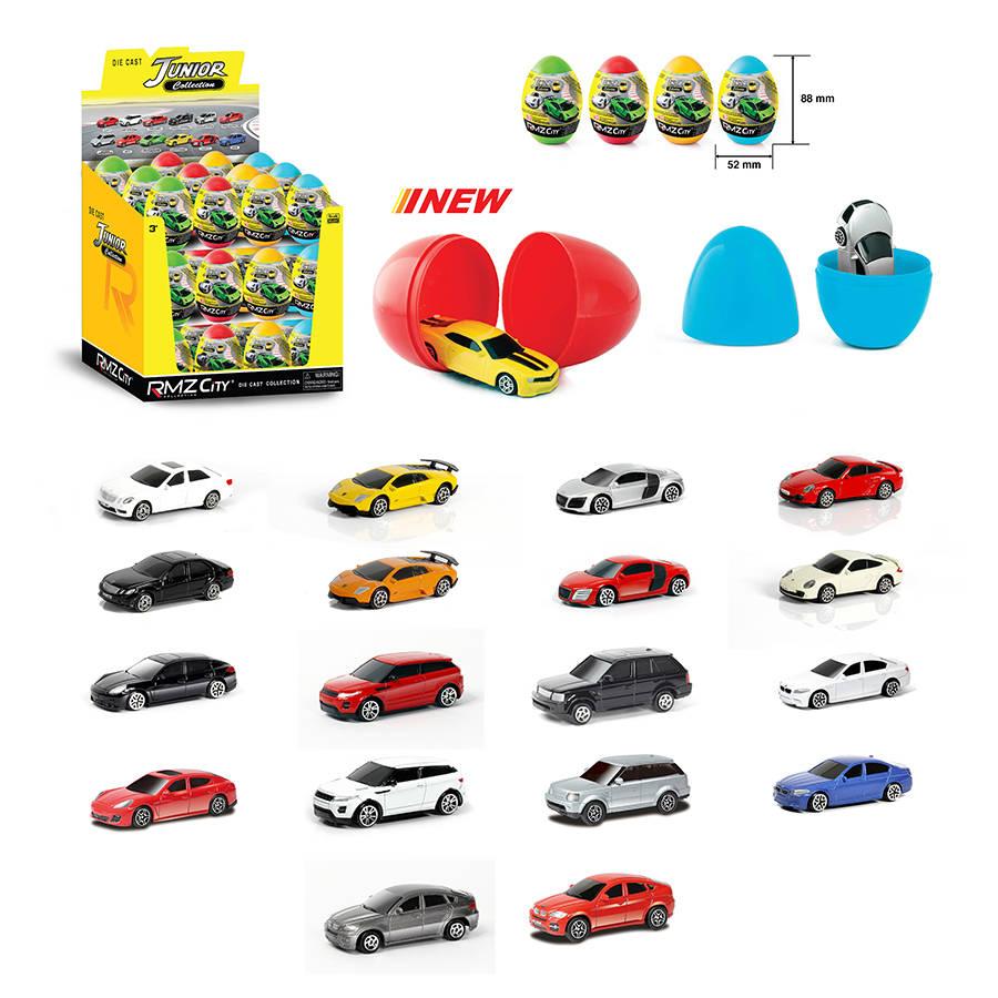Яйцо-сюрприз с металлической машинкой RMZ City, 1:64Машинки-сюрпризы в яйце<br>Яйцо-сюрприз с металлической машинкой RMZ City, 1:64<br>