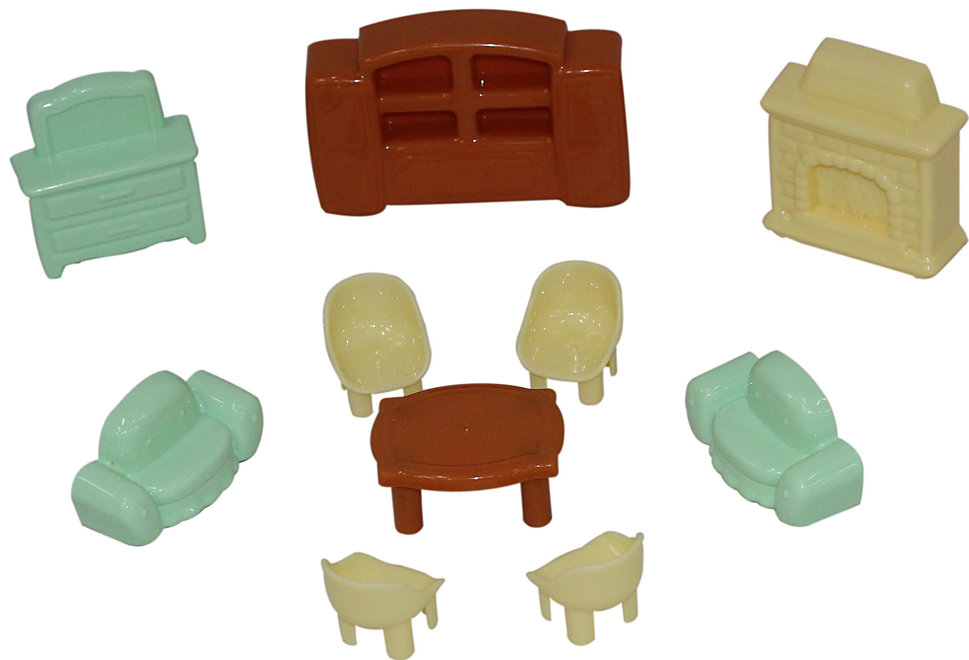 Набор мебели для кукол, 10 элементовКукольные домики<br>Набор мебели для кукол, 10 элементов<br>