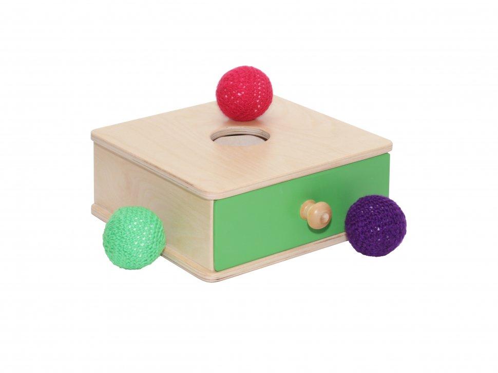 Развивающая игрушка - Коробочка с мячикомРазное<br>Развивающая игрушка - Коробочка с мячиком<br>