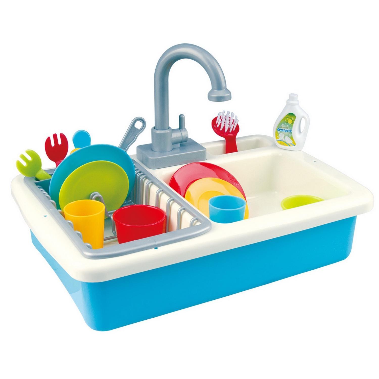 Купить Игровой кухонный набор - раковина, с сушилкой и посудой, 20 предметов, PlayGo