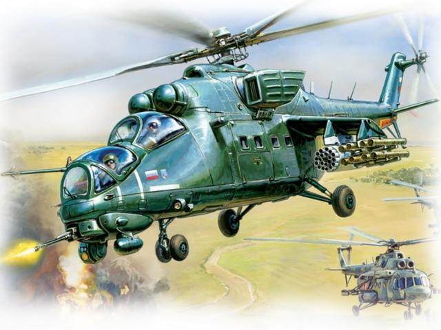 Модель дл склеивани - Вертолёт Ми-35ММодели вертолетов дл склеивани<br>Модель дл склеивани - Вертолёт Ми-35М<br>
