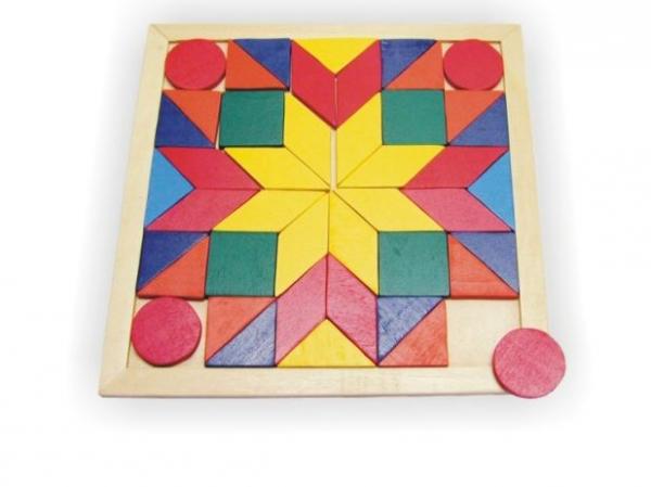 Деревянная рамка-мозаика Квадрат - Деревянные игрушки, артикул: 84027