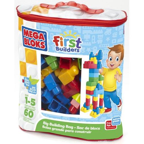 Сумка с деталями классических цветов – Эко, 60 штукКонструкторы Mega Bloks<br>Сумка с деталями классических цветов – Эко, 60 штук<br>