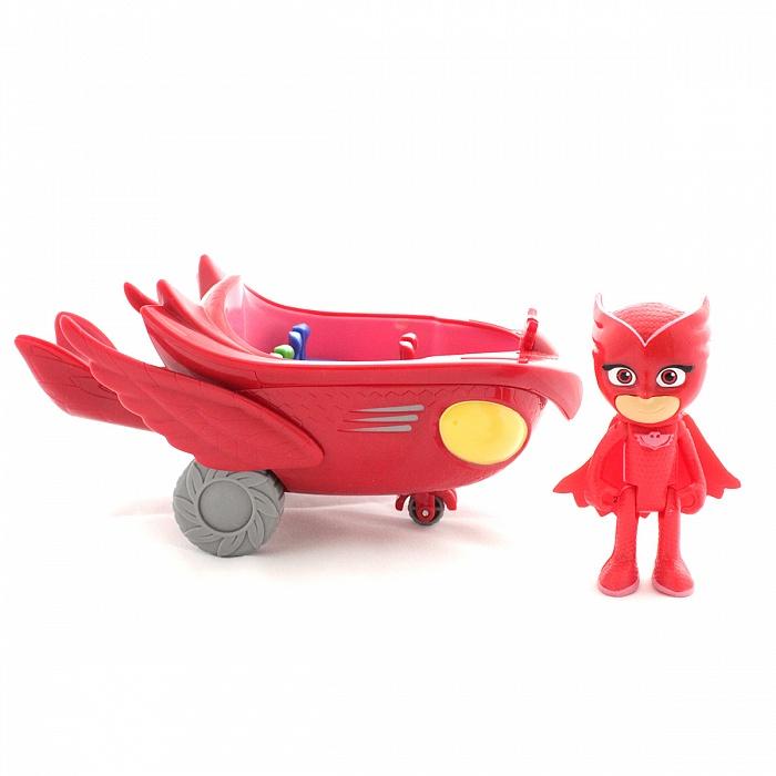 Игровой набор Pj Masks – фигурка и машина «Совиный планер», JUST PLAY  - купить со скидкой