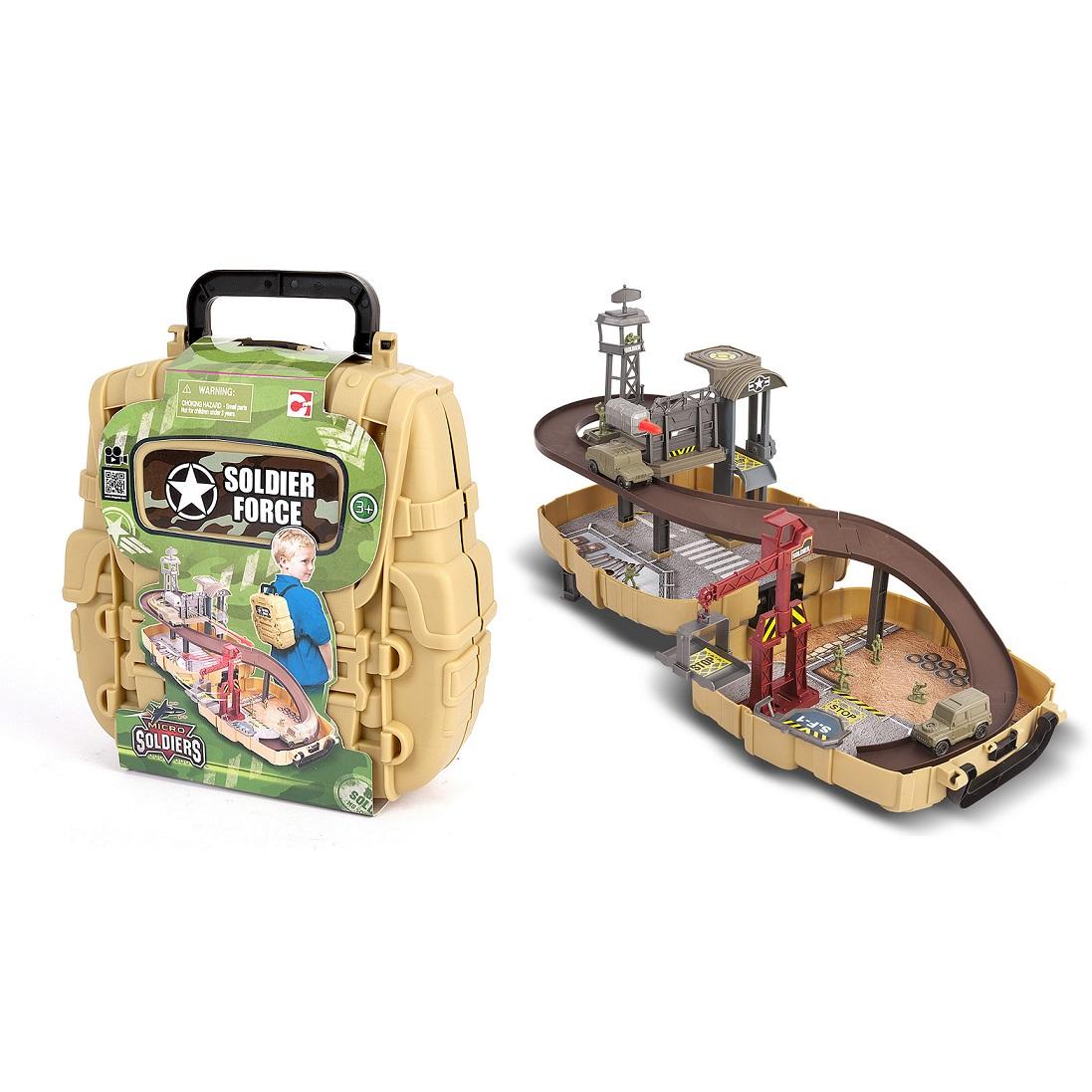 Игровой набор: Нано-Армия, мини трек в рюкзаке с наполнениемАвтотреки и авторалли<br>Игровой набор: Нано-Армия, мини трек в рюкзаке с наполнением<br>