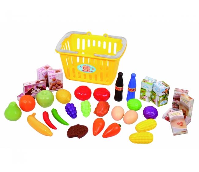 Игровой набор продуктов в корзинеАксессуары и техника для детской кухни<br>Игровой набор продуктов в корзине<br>