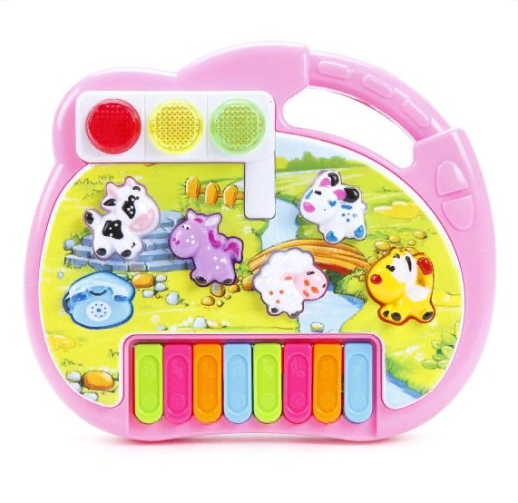 Купить Пианино - Е-Нотка, звуки животных, звуковые и световые эффекты, Shantou