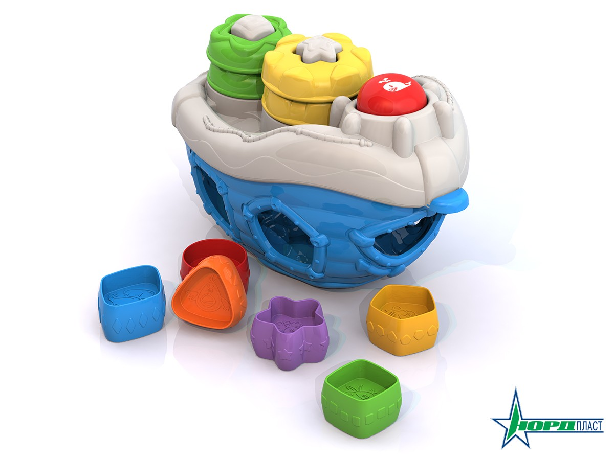 Игрушка дидактическая - КорабликСортеры, пирамидки<br>Игрушка дидактическая - Кораблик<br>
