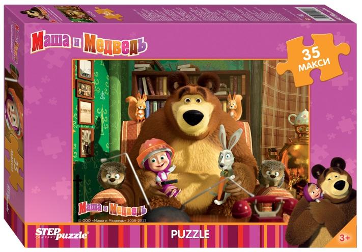 Пазл MAXI Маша и Медведь, 35 элементовПазлы для малышей<br>Пазл MAXI Маша и Медведь, 35 элементов<br>