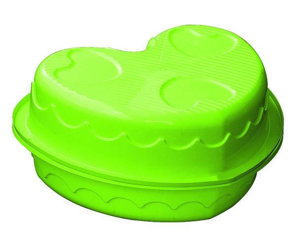 Детская пластиковая песочница мини-бассейн Сердечко двойное Marian Plast 435
