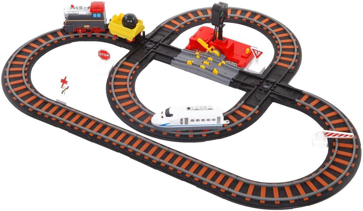 Железная дорога с двумя перекрестками, механизмом остановки и семафором – Останови крушение - Детская железная дорога, артикул: 161457