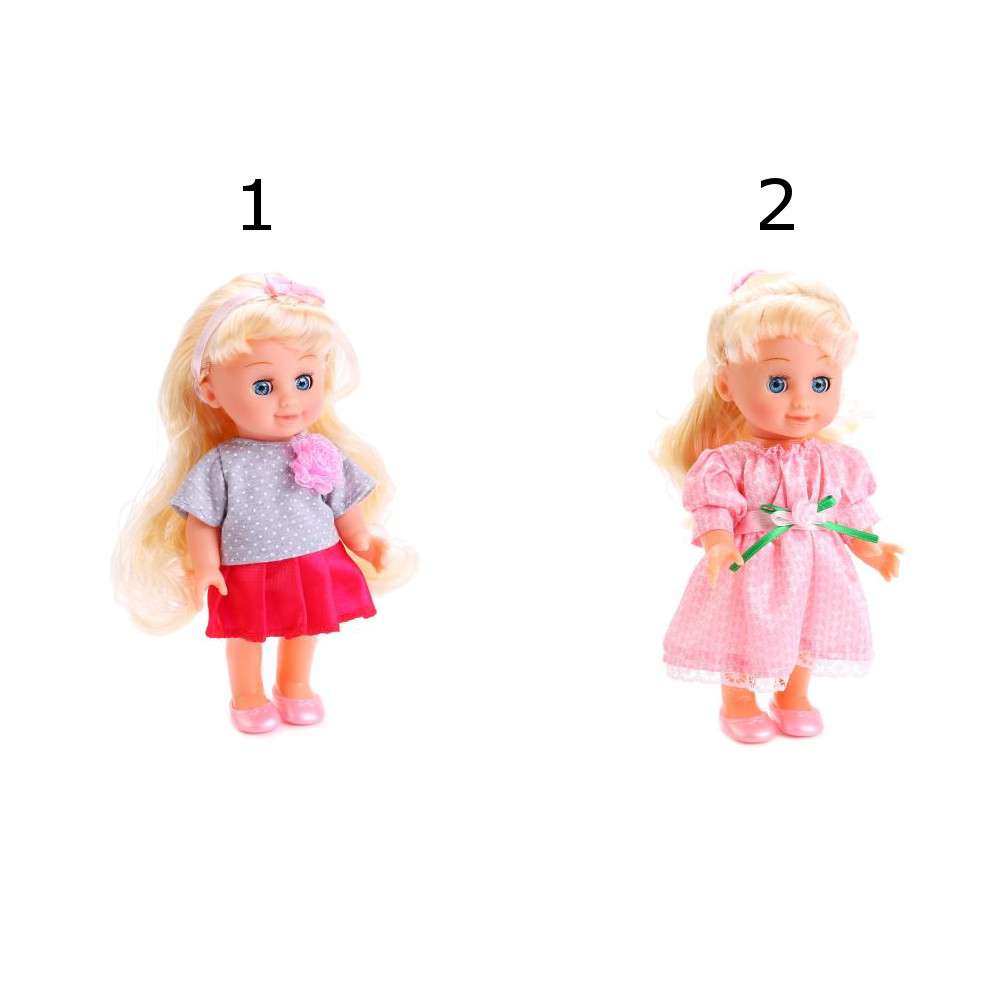 Кукла Полина 20 см., с расческой и заколочками, 2 видаКуклы Карапуз<br>Кукла Полина 20 см., с расческой и заколочками, 2 вида<br>