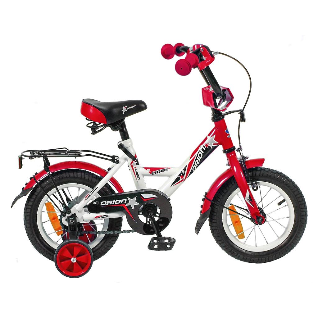 Двухколесный велосипед Lider Orion диаметр колес 12 дюймов, белый/красныйВелосипеды детские<br>Двухколесный велосипед Lider Orion диаметр колес 12 дюймов, белый/красный<br>
