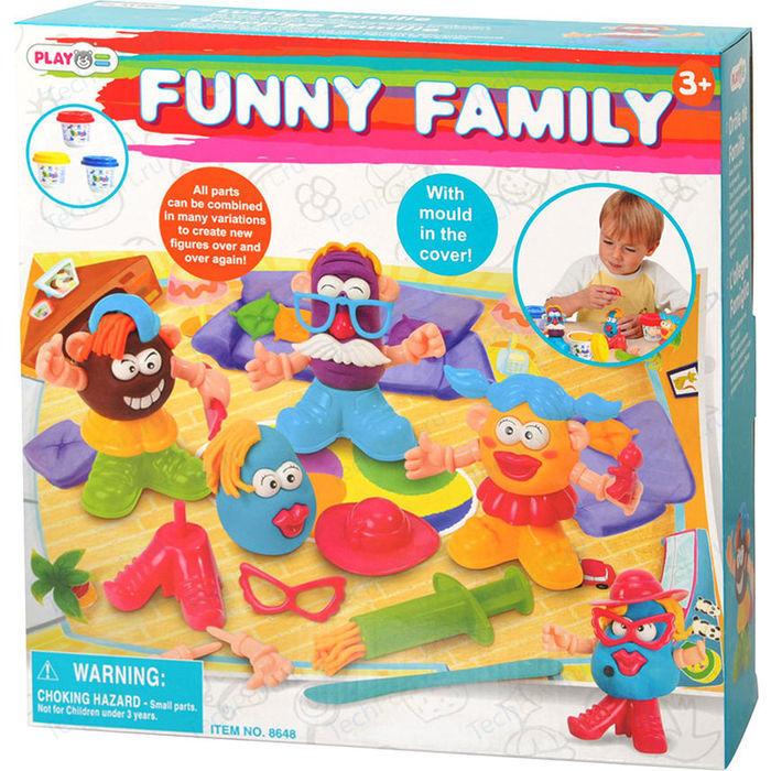 Набор для творчества, с пластилином, Забавная семейкаНаборы для лепки<br>Набор для творчества, с пластилином, Забавная семейка<br>