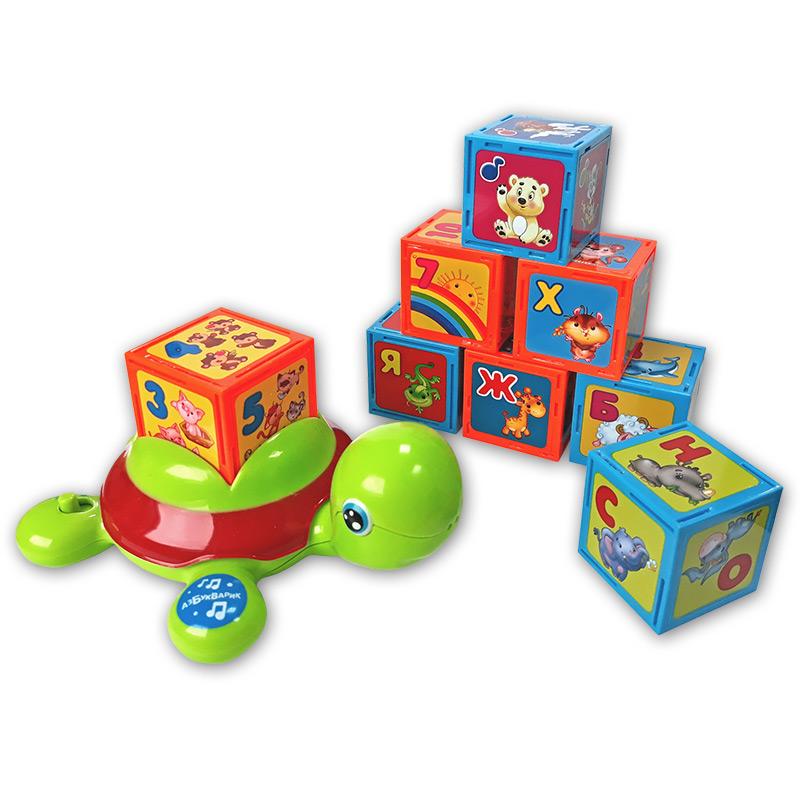 Купить Игрушка - Черепашка-Умняшка с кубиками, Азбукварик
