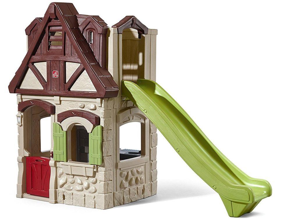 Домик с горкой - Пластиковые домики для дачи, артикул: 160844