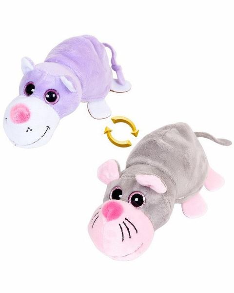 Мягкая игрушка - Перевертыши - Кот/Мышка, 16 смЖивотные<br>Мягкая игрушка - Перевертыши - Кот/Мышка, 16 см<br>