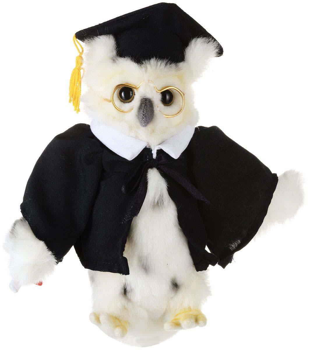 Мягкая игрушка - Сова выпускник, 18 смДикие животные<br>Мягкая игрушка - Сова выпускник, 18 см<br>