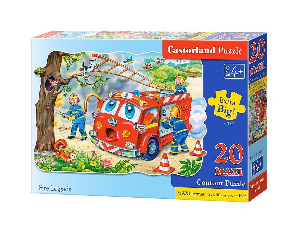 Купить со скидкой Пазлы Castorland - Пожарная машина, 20 маxi элементов