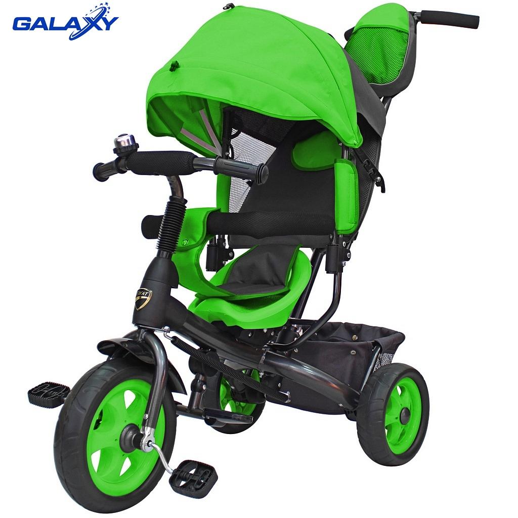 Купить 3-х колесный велосипед Galaxy Лучик Vivat зеленый