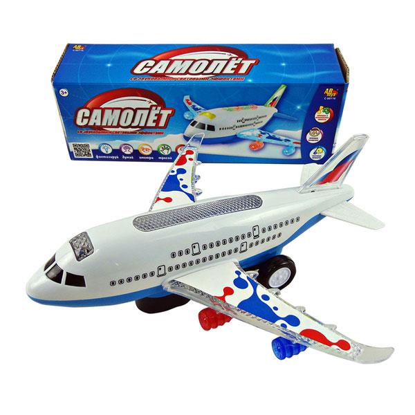 Самолет электромеханический со световыми и звуковыми эффектамиСамолеты, службы спасения<br>Самолет электромеханический со световыми и звуковыми эффектами<br>